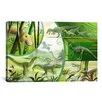iCanvas Kids Children Jurassic Cartoon Dinosours Canvas Wall Art