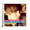iCanvas Justin Bieber Quote Canvas Wall Art