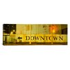 iCanvas Panoramic Downtown Sign Printed on A Wall, San Francisco, California Photographic Print on Canvas