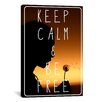 iCanvas Keep Calm and Be Free Textual Art on Canvas