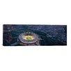 iCanvas Panoramic Dallas Skyline Cityscape (Night) Photographic Print on Canvas