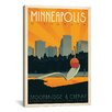 "iCanvas ""Minneapolis, Minnesota"" by Anderson Design Group Vintage Advertisement on Canvas"