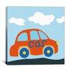 "iCanvas Decorative Art ""Red Car"" Canvas Wall Art"
