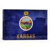 iCanvas Kansas Flag, Chalk Pyramids Graphic Art on Canvas