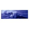 iCanvas Panoramic High Angle View of a Person Surfing in the Sea Photographic Print on Canvas