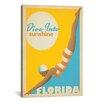 iCanvas 'Dive into Sunshine - Florida' by Anderson Design Group Vintage Advertisement on Canvas