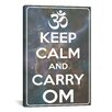 iCanvas Keep Calm and Carry Om Textual Art on Canvas