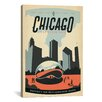 iCanvas 'Reflecton Millennium Park - Chicago, Illinois' by Anderson Design Group Vintage Advertisement on Canvas