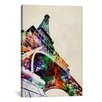 iCanvas 'Eiffel Tower Watercolor' by Michael Tompsett Graphic Art on Canvas