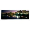 iCanvas Panoramic City Lit up at Night, Newark, New Jersey Photographic Print on Canvas