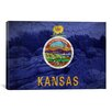 iCanvas Kansas Flag, Rock City with Cracks Graphic Art on Canvas