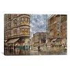 iCanvas 'Dinner Hour, San Francisco, Ellis and Market St' by Stanton Manolakas Painting Print on Canvas