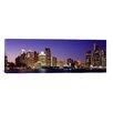 iCanvas Panoramic Dusk Detroit, Michigan Photographic Print on Canvas