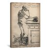iCanvas Cartography 'De Humani Corporis Fabrica Skeleton Standing' by Vesalius Painting Print on Canvas
