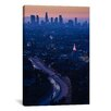 iCanvas Panoramic 'Highway 101 at Dawn, Hollywood Freeway, Los Angeles, California' Photographic Print on Canvas