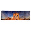 iCanvas Panoramic Details of the Brooklyn Bridge, New York City Photographic Print on Canvas