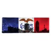 iCanvas Iowa Flag, Des Moines Cityscape Panoramic Graphic Art on Canvas