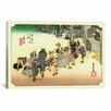 iCanvas 'Fujieda' by Utagawa Hiroshige Painting Print on Canvas