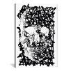 iCanvas Modern Black Splatter Skull Graphic Art on Canvas