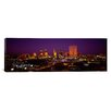 iCanvas Panoramic Skyscrapers Lit Up at Night Dallas, Texas Photographic Print on Canvas
