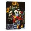 iCanvas 'Flowers in a Vase' by Pierre-Auguste Renoir Painting Print on Canvas