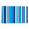 iCanvas Striped Cobalt Baby Blue Graphic Art on Canvas