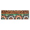iCanvas Panoramic Close-up of Design on a Wall, Ben Youssef Medrassa, Marrakesh, Morocco Photographic Print on Canvas