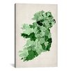 iCanvas 'Ireland Watercolor Map' by Michael Tompsett Graphic Art on Canvas