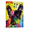 iCanvas 'French Bulldog' by Dean Russo Graphic Art on Canvas