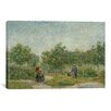 iCanvas 'Garden in Montmarte with Lovers' by Vincent van Gogh Painting Print on Canvas