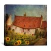 "iCanvas ""Gardenhouse Chenonceau"" Canvas Wall Art by Dawne Polis"