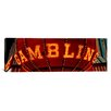 iCanvas Panoramic Close-up of a Neon Sign of Gambling, Las Vegas, Nevada Photographic Print on Canvas