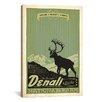 iCanvas 'Denali National Park' by Anderson Design Group Vintage Advertisement on Canvas