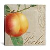 "iCanvas ""Fruits Classique (Peach)"" Canvas Wall Art by Colors Bakery"