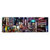 iCanvas Panoramic Traffic on a Road, Times Square, Manhattan, New York Photographic Print on Canvas