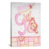 iCanvas Kids Children It's a Girl with Teddy Bear Painting Print Canvas Wall Art