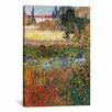 "iCanvas ""Flowering Garden"" by Vincent van Gogh Painting Print on Canvas"