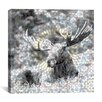 iCanvas Male Canadian Moose #3 Graphics Art on Canvas