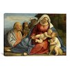 iCanvas Christian 'Madonna and Child, Little John the Baptist, Peter and Anthony the Hermit' Painting Print on Canvas