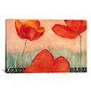 iCanvas Decorative Art 'Red Flowers' by Pablo Esteban Painting Print on Canvas