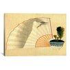 iCanvas Porcelain Pot with Open Fan by Katsushika Hokusai Graphic Art on Canvas
