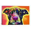 """iCanvas """"Love a Bull"""" by Dean Russo Graphic Art on Wrapped Canvas"""