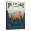 "iCanvas ""Portland, Oregon"" by Anderson Design Group Vintage Advertisement on Canvas"
