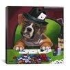 iCanvas Decorative Poker Dogs Jenny Newland Graphic Art on Canvas