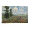 iCanvas 'Poppy Fields Near Argenteuil 1875' by Claude Monet Painting Print on Canvas