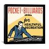 "iCanvas ""Pocket Billiards for Healthful Recreation"" Vintage Advertisement on Canvas"
