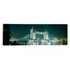 iCanvas Panoramic Tower Bridge London, England Photographic Print on Canvas