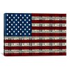 iCanvas American Flag One Hundred Dollar Bill Graphic Art on Canvas