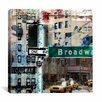 iCanvas One Way Broadway by Luz Graphics Graphic Art on Canvas