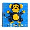 iCanvas Oo Ah Ah the Monkey from Design Turnpike Canvas Wall Art